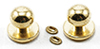 CLA05608 - Door Knob with Keyhole, 4/Pk, Brass