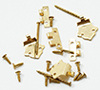 CLA05646 - Offset Hinges with Nails,Brass, 6/Pk