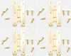 CLA05666 - H Hinges with Nails,Brass, 4/Pk