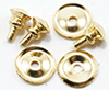 CLA05689 - Traditional Round Door knob, 6/Pk, Brass