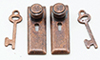 1/2 Scale Door Knob, Keyplate, Keys, Bronze, 6Pk