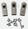 1/2 Scale Door Knob, Keyplate, Keys, Pewter, 6Pk
