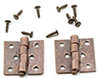 CLA05711 - Butt Hinges with Nails, 4/Pk, Oil Rubbed Bronze