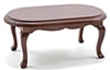 CLA06848 - Oval Coffee Table, Walnut