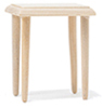 CLA08660 - End Table, Unfinished