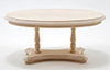 CLA08676 - Oval Pedestal Table, Unfinished