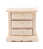 CLA08700 - 3-Drawer Night Stand, Unfinished