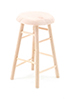 CLA08701 - Bar Stool,  Unfinished, 2 Inches