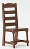 CLA10003 - Ladder Back Side Chair, Walnut