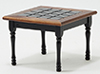 CLA10103 - Square Kitchen Table, Black with Walnut Trim