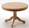 CLA10229 - Round Pedestal Table, Oak