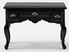 CLA10232 - Desk, Black With Pewter Hardware