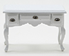 CLA10233 - Desk, White With Pewter Hardware