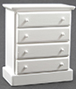 CLA10481 - Chest Of Drawers, Wht