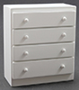 CLA10487 - Chest Of Drawers, White