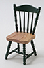 CLA10530 - Side Chair, Oak & Hunter Green