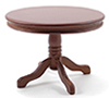 CLA10545 - Round Pedestal Table, Walnut