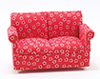 CLA10554 - Loveseat, Red