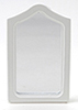 CLA10583 - Framed Mirror,White