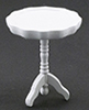 Pie Crust Table, White  ()
