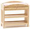 CLA10609 - Changing Table, Slatted, Oak