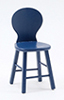 CLA10716 - High Stool W/Back 3-9/16 In, Dk Blue