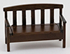 CLA10743 - Garden Bench, Walnut