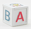 CLA10790 - Toy Box, White, Abc Decal