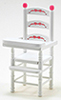 CLA10794 - High Chair, White, Abc Decal