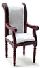 CLA10849 - Armchair, Mahogany with White Fabric