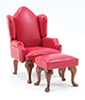 CLA10878 - Chair, Red