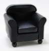 CLA10884 - Chair, Black Leather