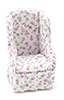 CLA10897 - Chair, White Floral Fabric