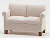 CLA10910 - Loveseat, Beige Fabric
