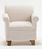 CLA10911 - Armchair, Beige Fabric