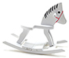 CLA10930 - Rocking Horse, White