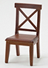 Cross Buck Chair, Walnut