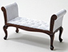 CLA10942 - Settee, Walnut, with White Fabric