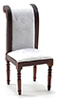 CLA10944 - Side Chair, Walnut with White Fabric