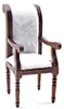 CLA10945 - Armchair, Walnut with White Fabric