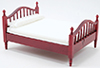 CLA10946 - Double Bed, Mahogany