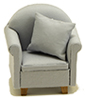 CLA10952 - Chair with Pillow, Gray