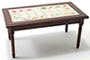 CLA10958 - Kitchen Table, Walnut With Fruit Decal