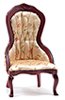 CLA10966 - Victorian Lady's Chair, Mahogany W/Floral Fabric