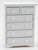 CLA10982 - Chest of Drawers, White