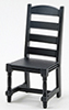CLA10999 - Ladder Back side Chair, Black