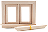 CLA70112 - Double Swing-Out Window W/Pane