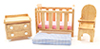 CLA91125 - ..Playstuf Nursery Set/5, Oak/Cs