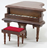CLA91408 - Baby Grand Piano with Stool, Walnut