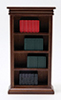 CLA91660 - Bookshelf & Books, Walnut